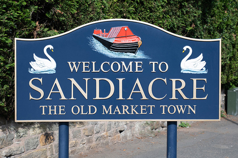 Sandiacre's Welcome Sign