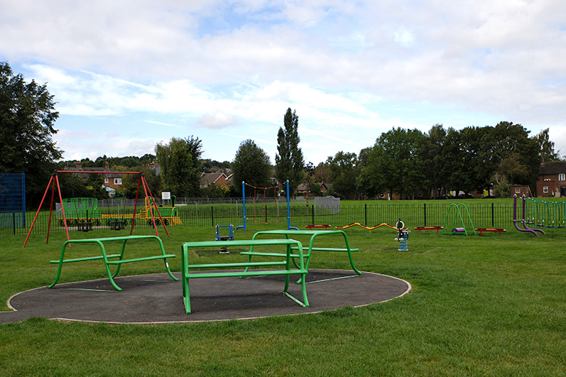 The children's play area on Doncaster Avenue Recreation Ground
