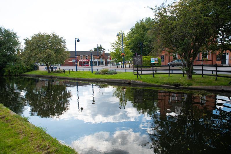 Sandiacre Village Centre from across the Erewash Canal