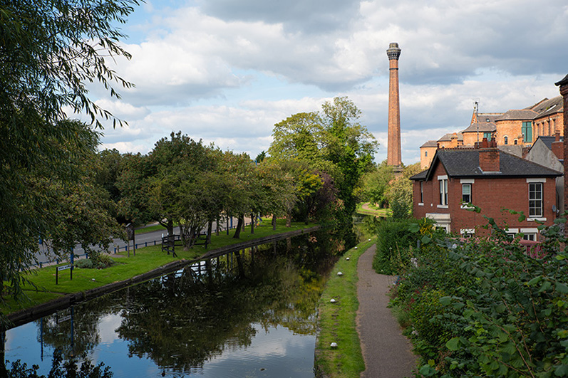 Springfield Mill alongside the Erewah Canal in Sandiacre