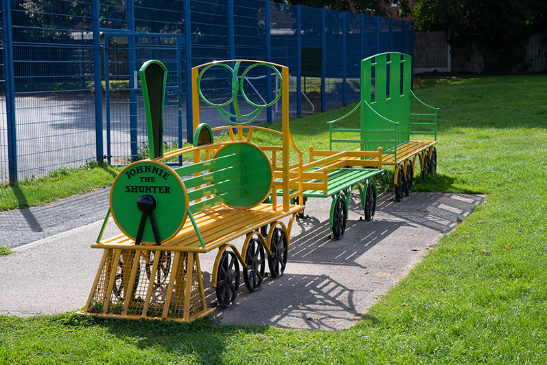 An image showing play equipment 'Johnnie The Shunter' on Doncaster Avenue Recreation Ground