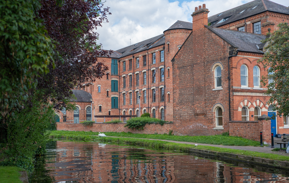 View of Springfield Mill alongside the Erewash Canal in Sandiacre