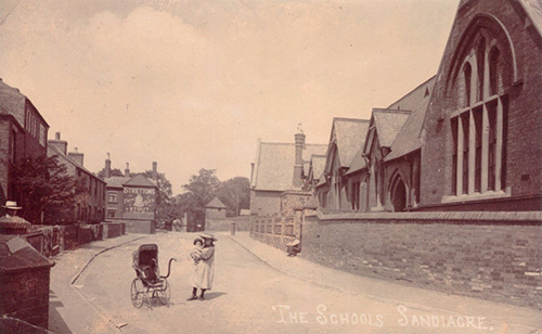 An old photograph of the Board School in Sandiacre